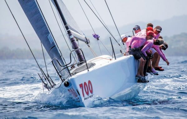Lazy Dog, Melges 32, third place finisher in Racing A. Photo: Dennis Rivera