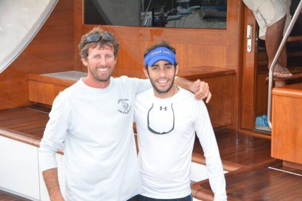 Photo: L to R: Casca Dura's Capt. Bruno Larica and leading angler Gabriel Abud. Credit: Dean Barnes