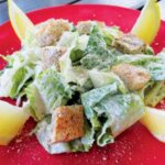 Seafood Food Caesar (I mean Seasar) Salad