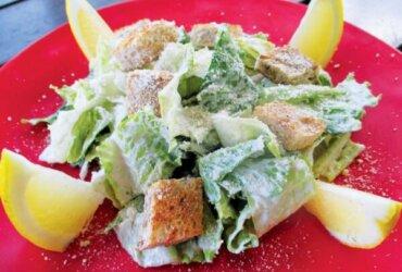 Seafood Food Caesar (I mean Seasar) Salad