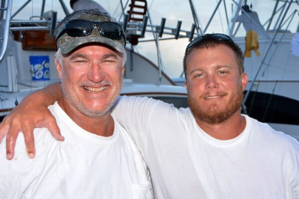Wave Paver's father and son team of Jr and Steve Davis finish as top two anglers. Steve Davis (right) Top Angler. Credit: Dean Barnes