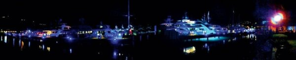 Nighttime at the Annual VICL Fall Yacht Show, Yacht Haven Grande, St. Thomas. Photo courtesy of VICL