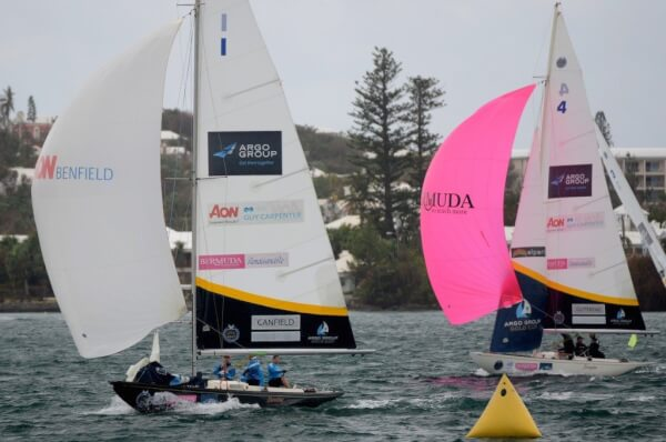 Canfield defeated Outterbridge in racing in Group 2 Qualifying round-robin matches of Day 2 of the Argo Group Gold Cup, Stage 6 of the Alpari World Match Racing Tour. © Talbot Wilson