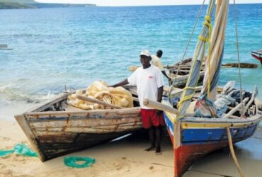 These sails were received by fishermen in Ile-a-Vache (Cow Island), 2012. Photo contributed by Sails For Sustenance