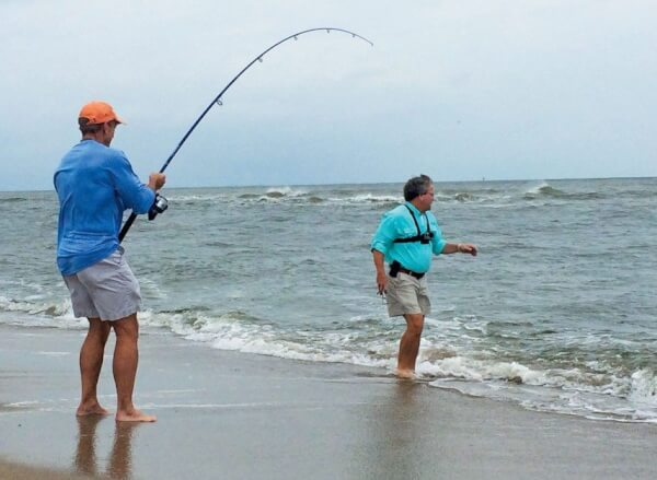 Surf fishing can provide some rod-bending good times on Bald Head Island. Photo By Jeff Dennis