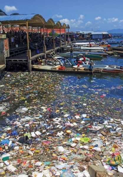The result of garbage thrown directly into the sea in Malaysia. Photo credit: Rich Carey/Shutterstock.com