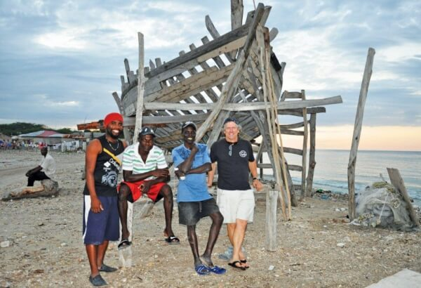 Samuel Michael (red hat) is the SSCA Cruising Station Host in La Gonave, Haiti. Photo: Orietta L'Abbate