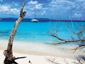 A study in blue - Buck Island anchorage, St Croix. Photo: Shane C McClellan www.svGuidingLight.com