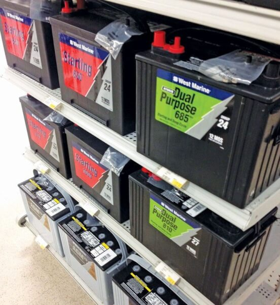 What are the different types of marine batteries