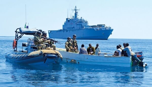 EU Naval Force captures suspected Somali pirates.