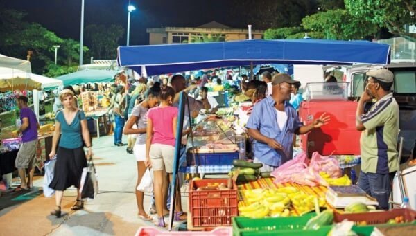 Gosier Grande-Terre Night market, Guadeloupe