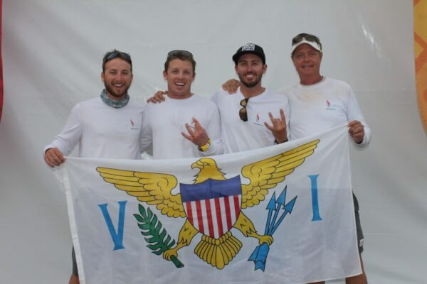 Photo: L to R: Max Nickbarg, Addison Caproni, Taylor Canfield, Phillip Shannon at 2014 Central American and Caribbean Games. Credit: Courtesy VISA