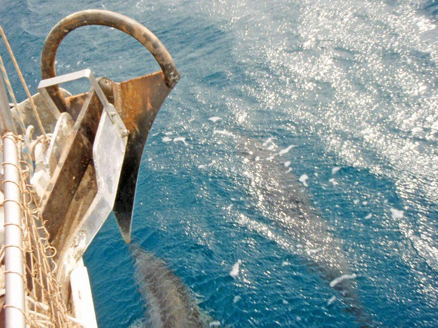 Pitufa's 50-pound German 'Bügelanker' anchor. Photo by Birgit Hackl