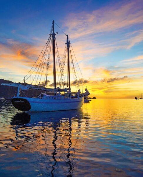 A perfect sunset at Bequia's Admiralty Bay. Photo: SharonMatthews-Stevens www.sherryspix.com
