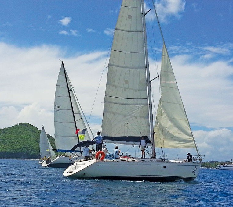 Yachts in the Triskell Organization taking part in the Dominica Kubuli Regatta