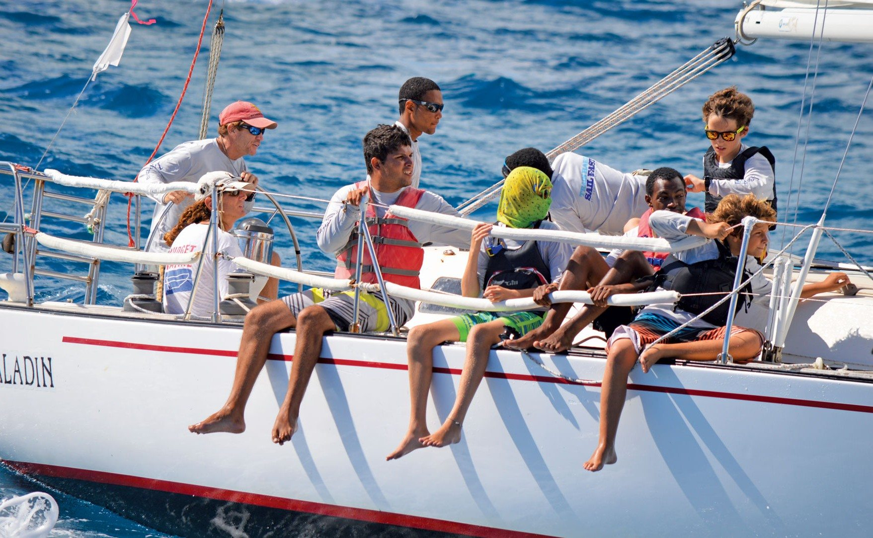 St. Croix International Regatta–winner Stan Joines and his all youth crew. Photo: Trish Rhodes