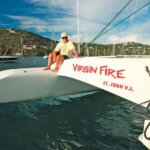 Fatty raced as tactician aboard Joe Colpitt's 56-foot Gold Coast catamaran, Virgin Fire, many times and had the honor of finishing in first place twice in the highly competitive multihull class of the Heineken Regatta of Sint Maarten.