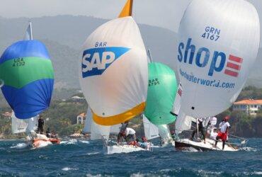 J/24s Racing at Grenada Sailing Week