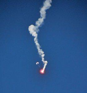 Parachute flare. Photo by Helen Aitken