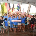 Nearly 100 junior sailors from over a dozen countries competed in the 2014 International Optimist Regatta in St. Thomas, USVI. Credit: Dean Barne