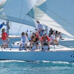 Y-Sailing, J/92, leading the Jib & Main Class at the Puerto Del Rey Sailing Challenge. Photo: Carlos Lee