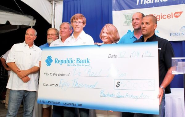 De Reel Viking won de really big check. Photo: Courtesy of Barbados Game Fishing Association