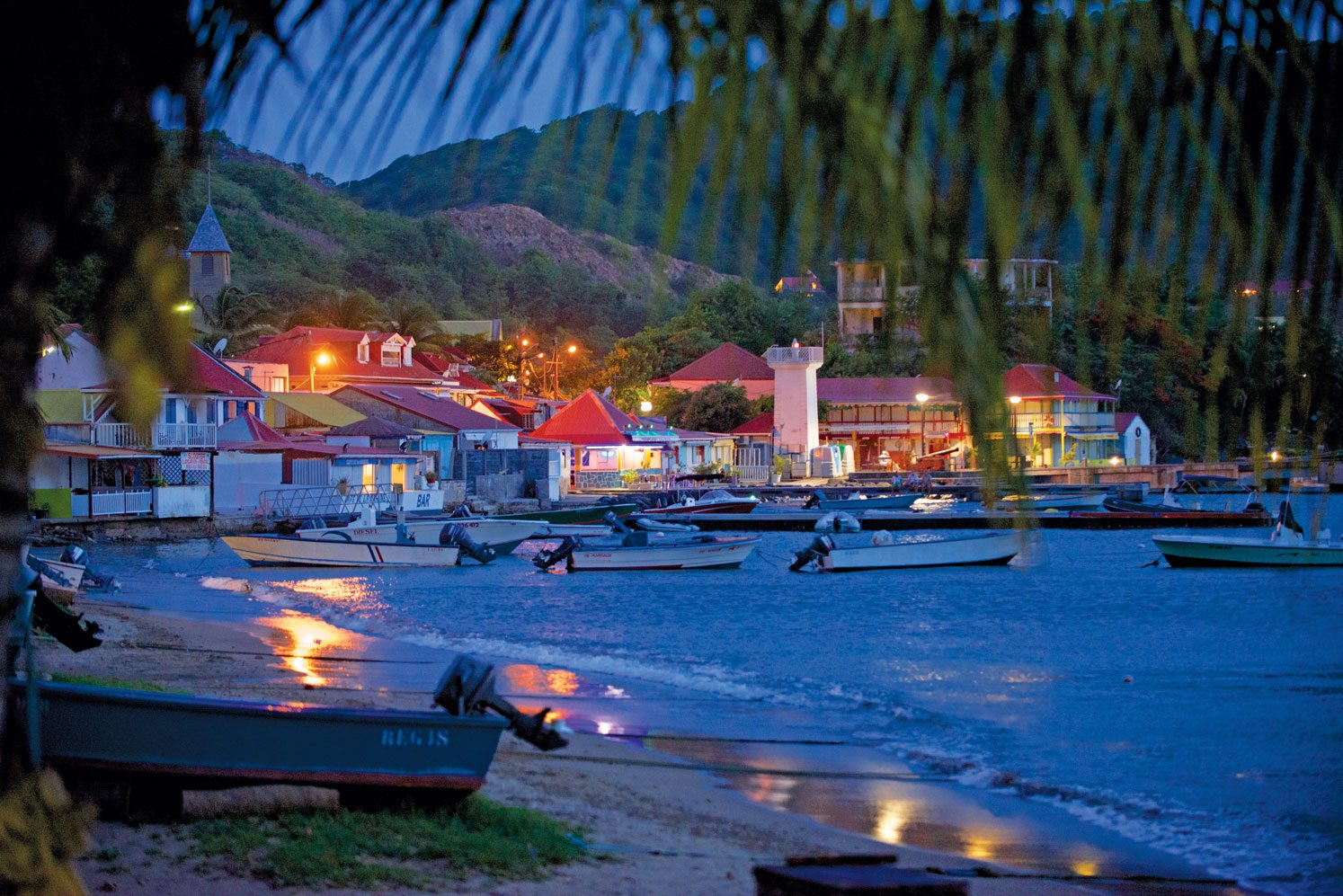 Les Saintes by night. Courtesy of Guadeloupe Islands Tourist Board