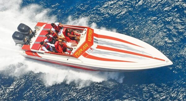 Team Any Weather competes in the Leverick Bay Poker Run. Photo by Freeman Rogers