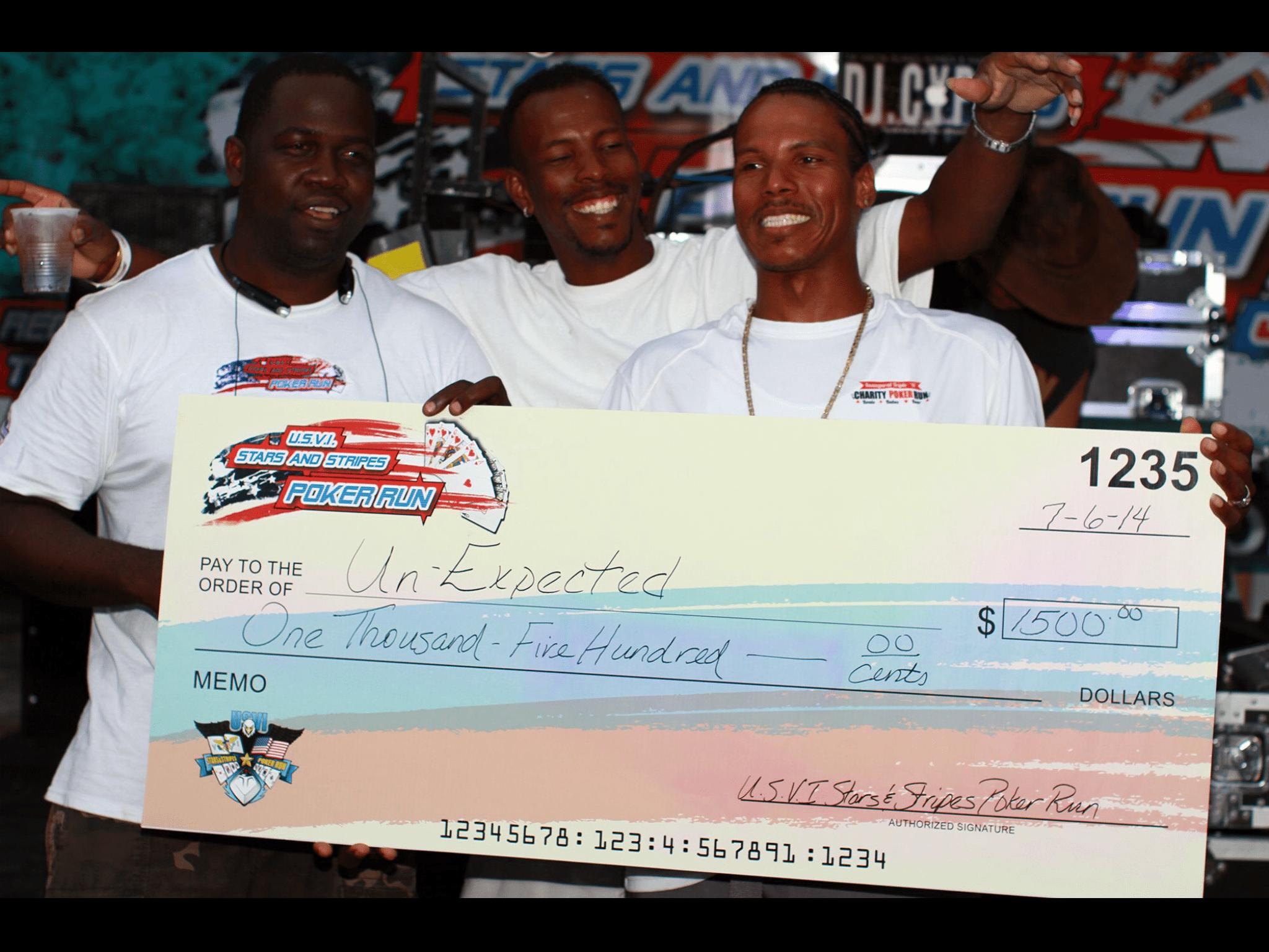 Money to Win at USVI Poker Run