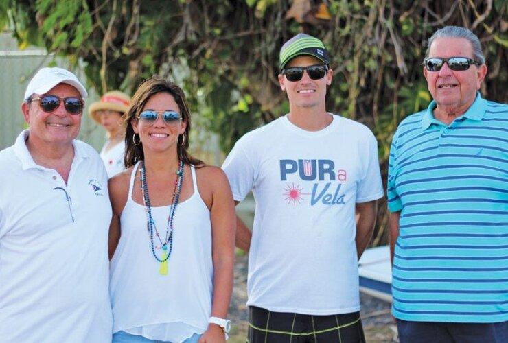 Club Nautico de San Juan Sailing Academy (from left): Commodore Alberto Gual Rexach, Bernardette San Antonio, Marco Teixidor (assistant director), and Mickey Tirado (member of the Club's Board of Directors). Photo: Carlos Lee