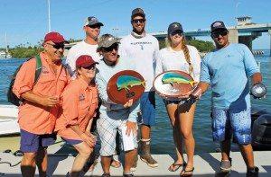 2nd Place Hey Papa with Ellie Leopold Largest fish award. Photo courtesy of Islamorada Dolphin Tournament