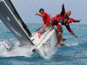 The St. Maarten Heineken Regatta famously combines lively entertainment with the sport of yacht racing (photo credits Tim Wright)
