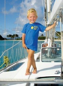 Barefoot – Young or old, everyone has fun on a Caribbean yacht charter. Photo courtesy of Barefoot Yacht Charters
