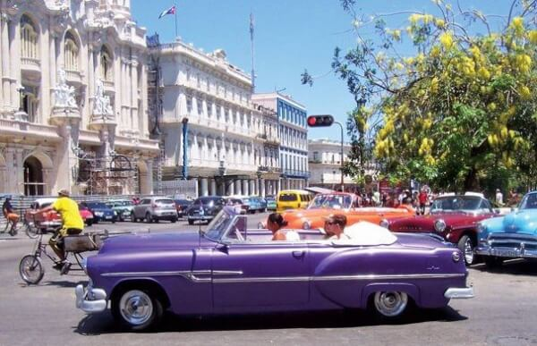 Havana's Parque Central. Photo by Capt. Jeff Werner