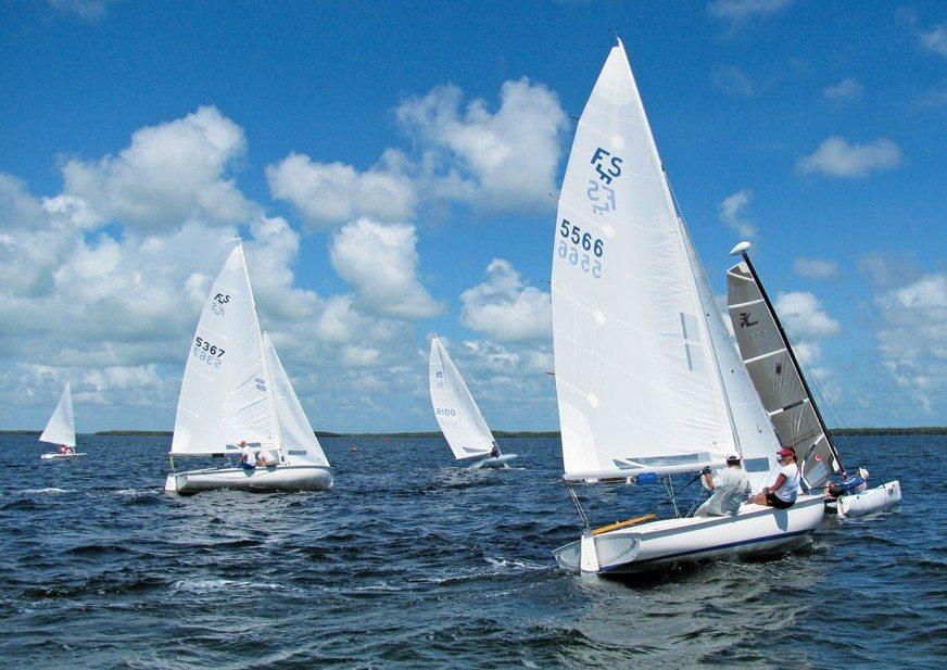 Racing at Upper Keys Sailing Club. Photo courtesy of Upper Keys Sailing Club