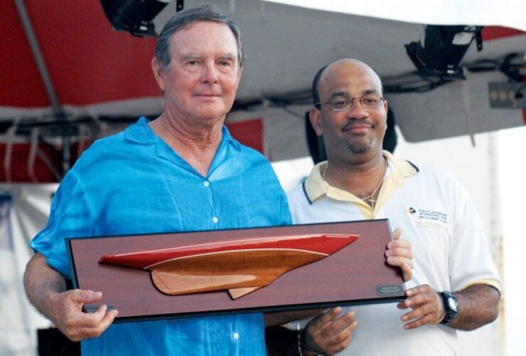 James Dobbs (left) was one of the most successful skippers in Caribbean regatta history