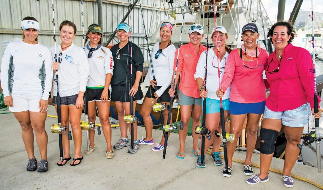 The lady anglers of the International Billfish Tournament. Photo: Mark Smestad