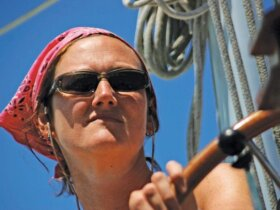 Kirsty Morrison female skipper Pink Lady