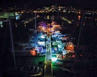 In the evening all the boats docked at IGY Rodney Bay Marina