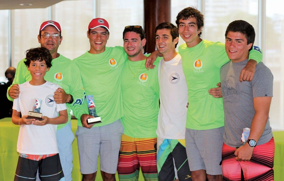 Puerto Rico participants and winners of the 2015 Caribbean Dinghy Championships with Pedro Luis (1stin Laser Radial)