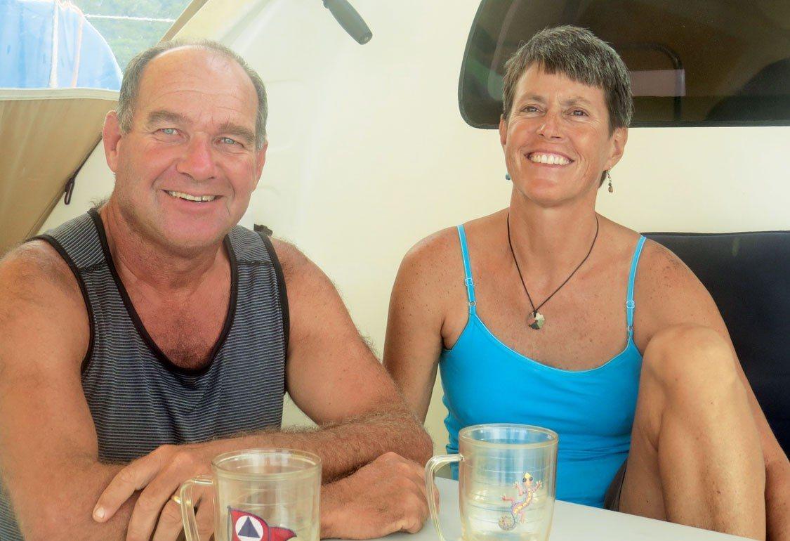 Keith and Jaime Pomeroy of S/V Kookaburra. Photo by Barbara Hart