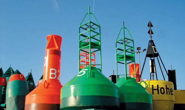 Cluster of buoys. Photo: Arne Hückelheim