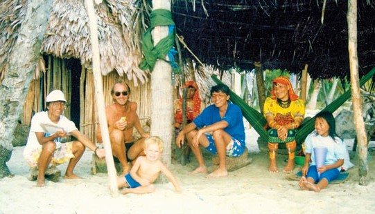 Boat Cruising with kids. In the San Blas Islands, 1988. Photo by Janet Hein