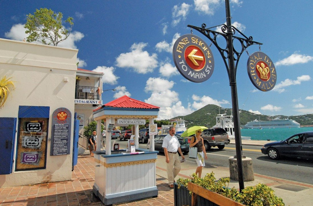 Charlotte Amalie's Waterfront Drive. Photo by Dean Barnes
