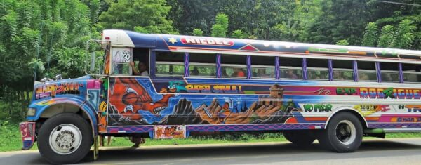 The chicken bus is also a work of art. Photo by Barbara J. Hart
