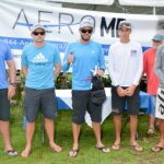 The USVI's Taylor Canfield and his team win the 7th Carlos Aguilar Match Race, presented by AeroMD. L to R: Mike Rehe, Alden Reid, Taylor Canfield, Sam Morrell (Antilles School student) and William Bailey. Credit: Dean Barnes