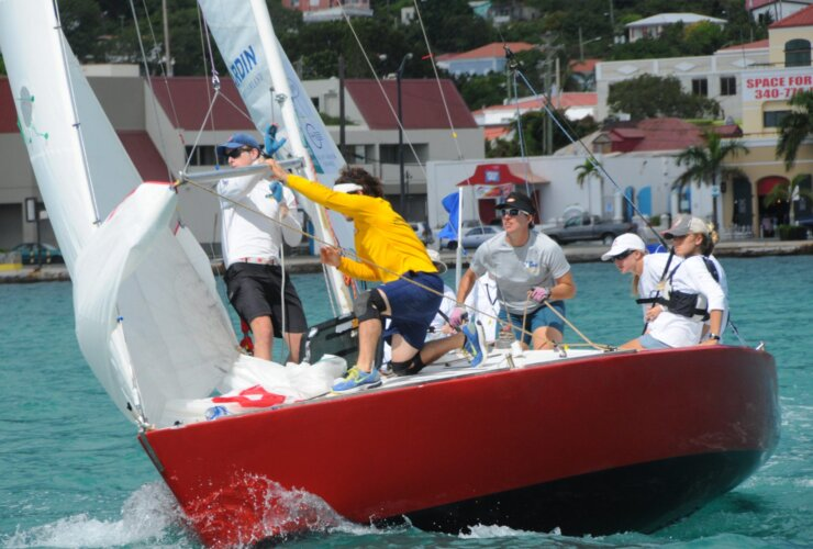 The USA's Stephanie Roble skippered in the 2013 Carlos Aguilar
