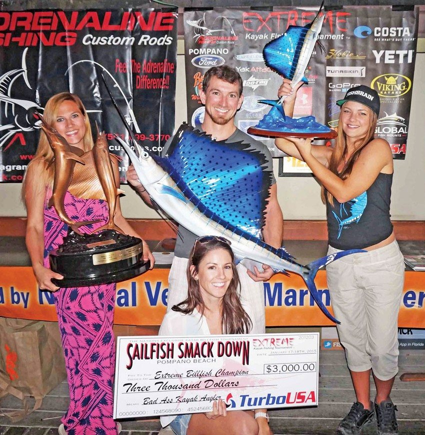 The 2015 Sailfish Smackdown winner was Jon Venarchick. He won $3,000.00 from Turbo USA and a Sailfish Mount from Global Fishmounts. Photo Courtesy of Jorge Bustamante
