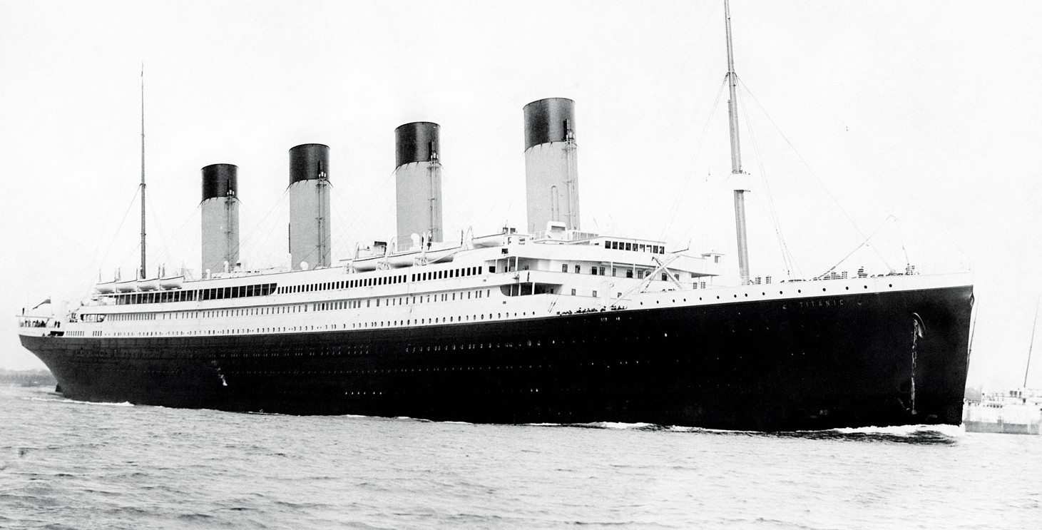 VHF Radio Distress Calls: Titanic,A Marconi radio operator transmitted a distress signal from the ill-fated liner RMS Titanic