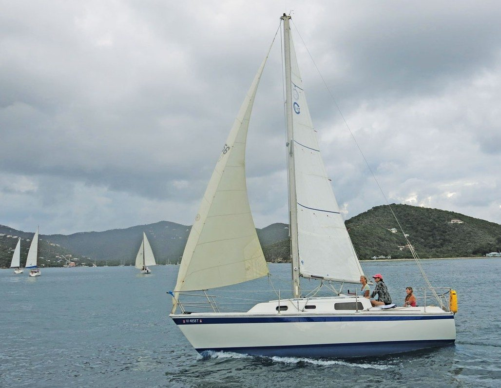 Coral Bay Thanksgiving Regatta: USVI,All women crew on Reality Switch